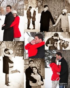 Engagement photo idea, winter shots