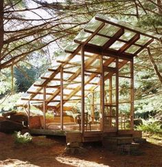love the transparent corrugated roof -- an idea for the screen house