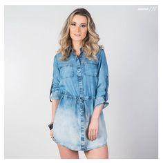 Chemise Jeans: é uma peça versátil e perfeita para os dias de meia estação. #DiadasMãesGdoky #Wishlist #ChemiseJeans 💙