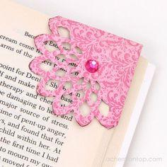 Corner Bookmark Tutorial @ ACherryOnTop.com
