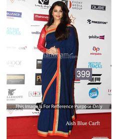 Trendy designer partywear saree is made with exclusive lace. Shop online beautiful designer partywear saree now. Bollywood Sarees Online, Bollywood Designer Sarees, Bollywood Dress, Indian Designer Sarees, Bollywood Fashion, Indian Bollywood, Anushka Sharma Saree, Sari, Blue Saree