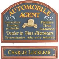 """""""Automobile Agent"""" Personalized hanging sign. Made in the USA - FREE SHIPPING"""