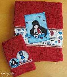 Paso a paso para decorar y personalizar una toalla con tela Gorjuss  #patchwork #gorjuss