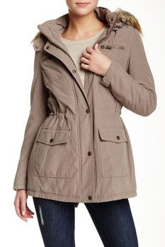Rachel by Rachel Roy Parka with Removable Faux Fur Trimmed Hoodie