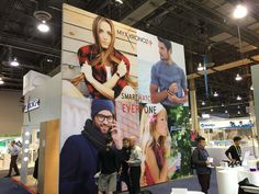 Large fabric wall for MyKronoz #booth at #CES Las Vegas