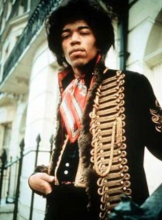 Love Jimi Hendrix's royal hussar jacket!  Find our Hendrix collection at www.ChicEgo.com