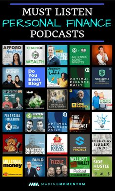 Check out these personal finance podcasts. Take control of your finances with the best money, investing and side hustling podcasts. Free knowledge every day of the week! finance Best Personal Finance Podcasts: Money And Financial Shows In 2019 Financial Literacy, Financial Tips, Financial Assistance, Financial Planning, Retirement Planning, Investing Money, Saving Money, Saving Tips, Finance Books