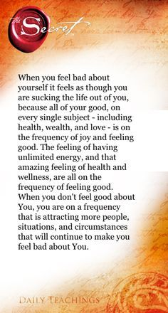 Try to increase feeling good each and every day :)
