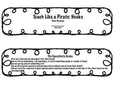 If you have not read Teach Like A Pirate by Dave Burgess, then you are missing out! He gives real strategies for increasing student engagement, your creativity, and transforming your life as an educator. You can use this reference when planning lessons. Teach Like A Pirate, Pirate Hook, Kinesthetic Learning, 2nd Grade Teacher, Teachers Corner, Book Study, Pirate Theme, Lesson Planning, Student Engagement