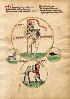 Mars. Planetenkinder-children of the planets, 15th century. Universitätsbibliothek Salzburg.