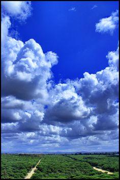 Beautiful cloudy sky in Spain