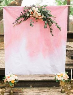 Dip dyed ceremony backdrop | Wedding & Party Ideas | 100 Layer Cake