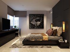 Thiết kế thi công nội thất căn hộ chung cư Sunrise City - Phòng ngủ Master #thicongnoithat #thietkenoithat #noithat #noithatdep #sunrisecity #interiordesign #designer #homedecor #interior #decoration
