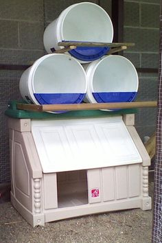 Clever idea for chicken nest boxes.