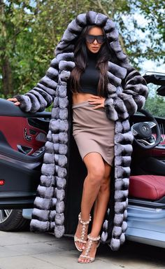 LONG FUR COAT WITH BEAUTIFUL BIG HOOD. FUR FASTENED ON FURRIER'S SNAP FASTENERS. SKINS ON THE MARKET ! SIZE : S-M. BREAST 100 CM. SLEEVE 77 CM. LENGTH 135 CM. TOP MODELL. | eBay!