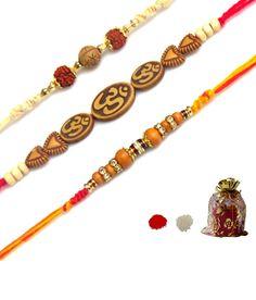 Lalapple Designer Rakhi - Set of 3 Rakhi, Bracelets, Beautiful, Jewelry, Design, Fashion, Bangle Bracelets, Jewellery Making, Moda