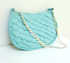 Mermaids Tail Bag - Folded Linen with Metal Strap. $177.00, via Etsy.