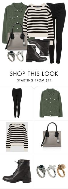 """""""Sin título #13761"""" by vany-alvarado ❤ liked on Polyvore featuring Topshop, MANGO, MICHAEL Michael Kors, Pieces and River Island"""