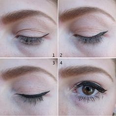 Love this easy, winged eyeliner look - adds drama and depth while making eyes appear wider.