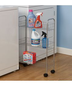 Perfect for my space!   Silver Slimline Utility Cart by Household Essentials