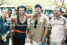 Actor Rajani sir & Vijay anna at Bagavathi sooting spot