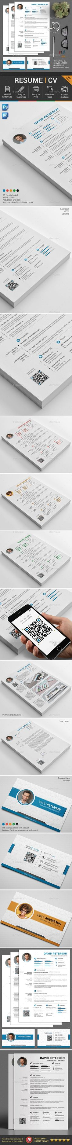 #Resume #CV Set - Resumes Stationery Download here: https://graphicriver.net/item/resume-cv/19211082?ref=alena994