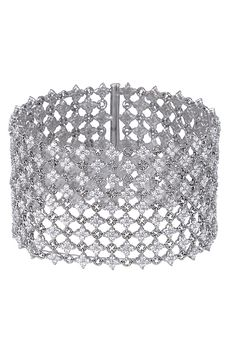 White Gold Diamond Mesh Bracelet