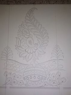 Banarsi Textile Designer: embroidery design scetch figure pattern Peacock Embroidery Designs, Hand Embroidery Design Patterns, Hand Embroidery Dress, Embroidery Motifs, Jagua Henna, Hand Work Blouse Design, Jewelry Design Drawing, Mehndi Art Designs, Fabric Painting
