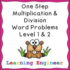 This bundle combines my One Step Multiplication Word Problem Worksheets Level 1 and 2 with my One Step Division Word Problem Worksheets Level 1 and 2.  This bundle includes twenty four pages of multiplication word problems and 24 pages of division problems. For multiplication there are several missing factor problems. For each problem students will show the answer as groups of, an array, jumps on a number line, an equation and in a sentence. $ #MultiplicationDivisionWordProblems