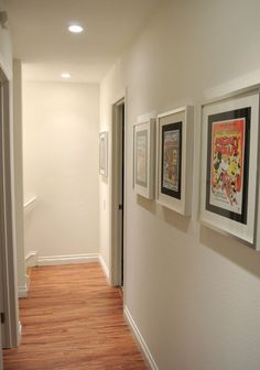 The upstairs hallway with vintage Disney posters