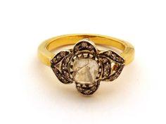 Wedding rings- 3.60g 1.27ct Nizam Antique Diamond Ring