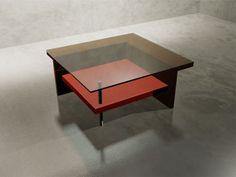 Mesa de Centro Cuadrada Madera y Vidrio http://dizenos.cl/mesa-de-centro-cuadrada-madera-y-vidrio/