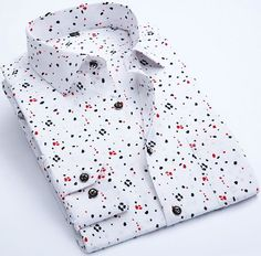 Item Type: Shirts Gender: Men Pattern Type: Floral Sleeve Style: Regular Style: fashion Closure Type: Single Breasted Brand Name: SAROUYA Fabric Type: Broadcloth Material: Polyester Collar: Turn-down