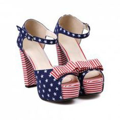 $16.07 Party Women's Sandals With Bowknot and Stars Print Design