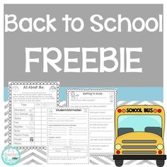 This back to school freebie includes multiple activities to help organize your year and get to know your students better. Building a strong sense of community is vital when beginning a new school year- both students and families can complete the forms for additional perspectives. These pages are meant to be given out during Open House, Back to School Night, or during the first week of school.