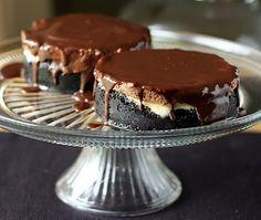 mini chocolate mousse cheescakes