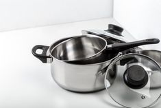 Pitted stainless steel results from exposure to chlorine and chlorides, such as table salt and household bleach. Stainless Steel Pot, Cookware, Cooking Ware, Kitchen Gadgets, Pots, Kitchen Supplies