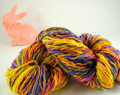 "Handspun 100% Merino wool #yarn in ""Easter"" colorway by @Stockannette, $23.00 on @Etsy"