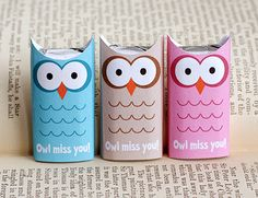 owl-candy-wrapper going away present or end of year class gift for classmates