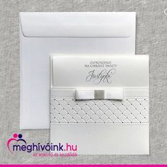 Elegant invitation card with an embossed pattern on the case-like cover and a silk ribbon from which the half-folded insert can be pulled out on top. The text is placed on the insert. It has its own envelope. Also available in brown color, under code F1241p. Dimensions: 135 × 135 mm Elegant Invitations, Invitation Cards, Silk Ribbon, Envelope, Coding, Brown, Cover, Pattern, Top