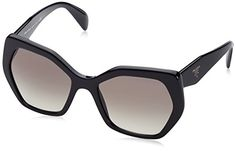 Prada Womens PR 16RS BlackGrey Gradient Sunglasses * Check this awesome product by going to the link at the image.Note:It is affiliate link to Amazon.