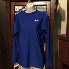 Men's extra-large blue shirt Men's blue extra large under armour longsleeve shirt Under Armour Tops Tees - Long Sleeve