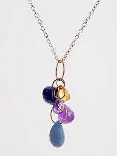 Blue Gemstone Necklace by Melissa Joy Manning | DARA Artisans