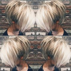 100 Mind-Blowing Short Hairstyles for Fine Hair - hair styles for short hairDo you want a new trendy haircut for the spring-summer 2019 season? Well, one of the most trendy haircuts this year is the pixie haircut. Bob Hairstyles For Fine Hair, Pixie Hairstyles, Short Hairstyles For Women, Bob Haircuts, Layered Hairstyles, Casual Hairstyles, School Hairstyles, Haircut Bob, Blonde Haircuts