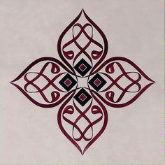 Arabic Calligraphy Art, Arabic Art, Caligraphy, Motifs Islamiques, Persian Tattoo, Islamic Patterns, Turkish Art, Typography Art, Art And Architecture
