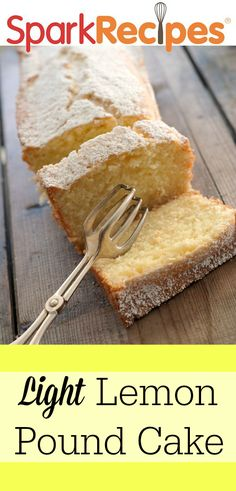Light Lemon Pound Cake  Recipe via @SparkPeople