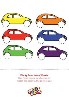 Wacky Froot Loops Wheels Busy Bag helps your child practice color matching