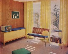 Yellow room. Ladies Home Journal Book of Interior Decoration, 1954, 1957