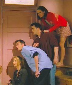 Phoebe, Chandler, Joey, and Monica