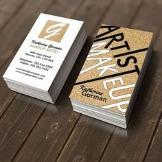 Love these gold foil business cards! Great for hair stylist/ Make-up artist. Bring out your own unique style with your custom made business cards.